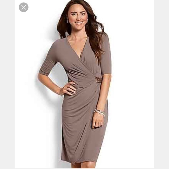 Tommy Bahama Dresses & Skirts - Tommy Bahama ruched wrap t-shirt dress. Brown